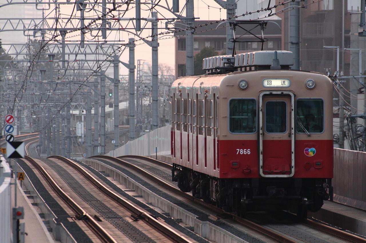 【撮った】2/17 出陣!武庫川線の送り込み回送