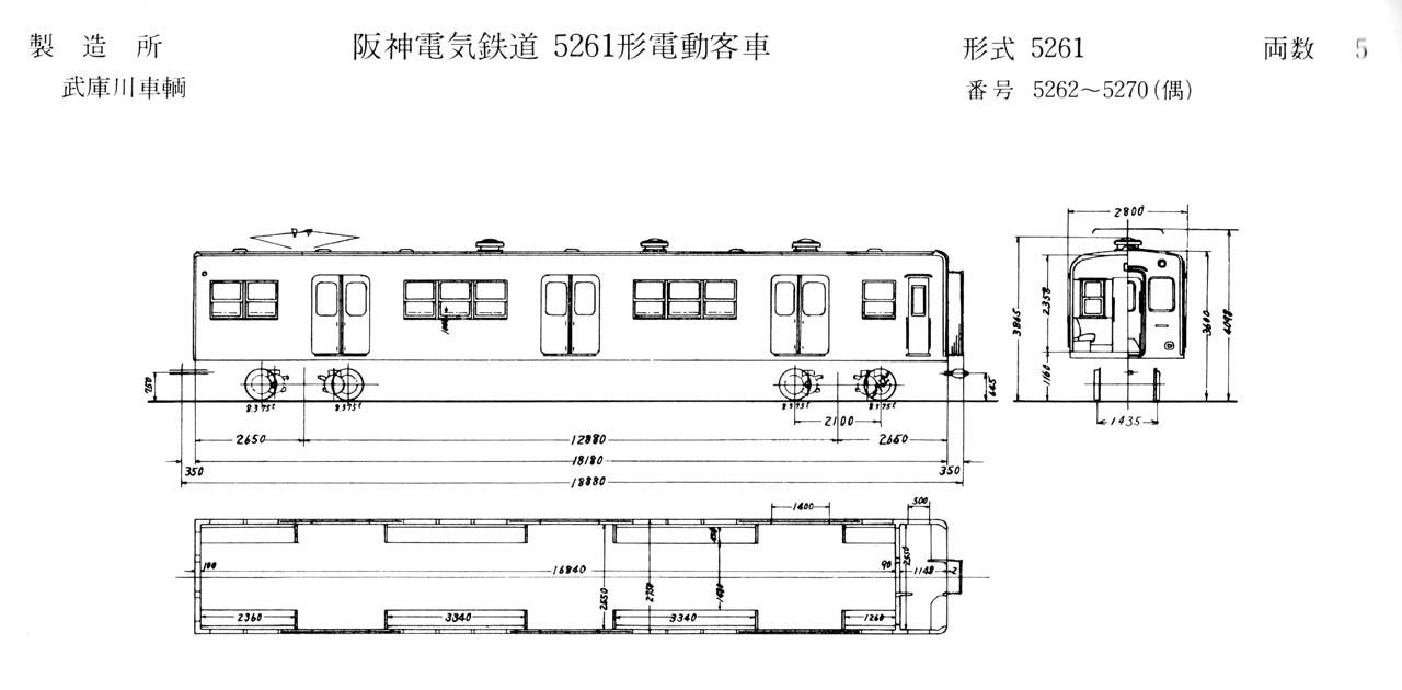 消えた車両シリーズ(3) 経済設計のジェットカー5261形(5261~5270)
