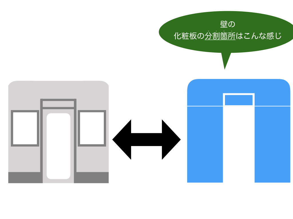 妻面化粧板分割構成(前編)