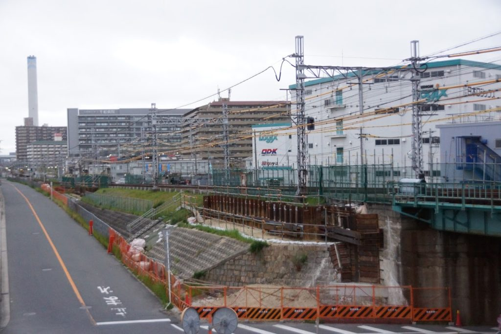 阪神なんば線・淀川橋梁改築事業(令和2年・夏の様子)